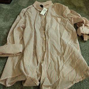 Ann Taylor pinstripe dress shirt